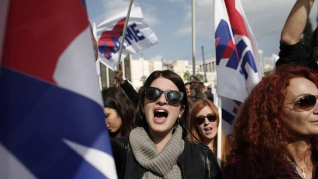 """Demonstranten fordern """"menschenwürdige Bedingungen"""""""