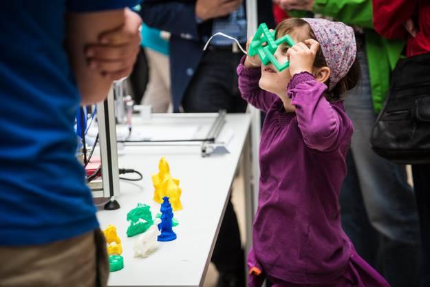 Die gedruckten 3D-Objekte faszinierten Klein und Gross
