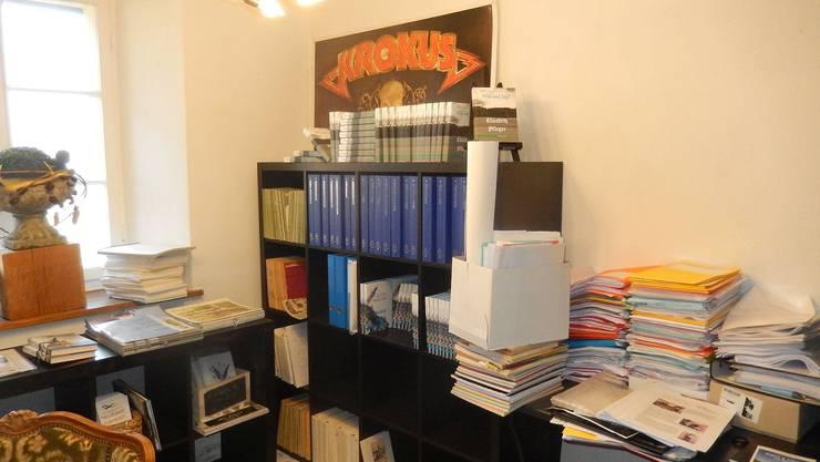 Ein Teil des Pfluger-Archivs bei Claudia Brander in Fulenbach.