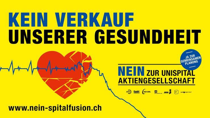Unter dem Slogan «Kein Verkauf unserer Gesundheit» kämpft das links-grüne Nein-Komitee gegen die geplante Spitalfusion