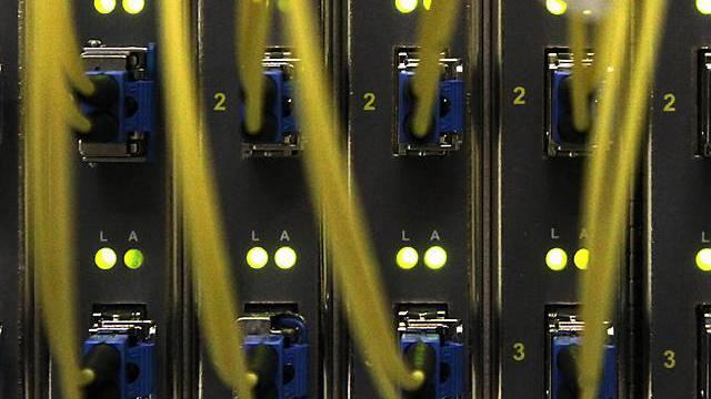 Breitbandkabel in einem Rechenzentrum (Archiv)