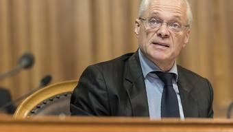 Thomas Minder (parteilos/SH) plädierte im Ständerat für die Ausschaffung von Terroristen in Folterstaaten.