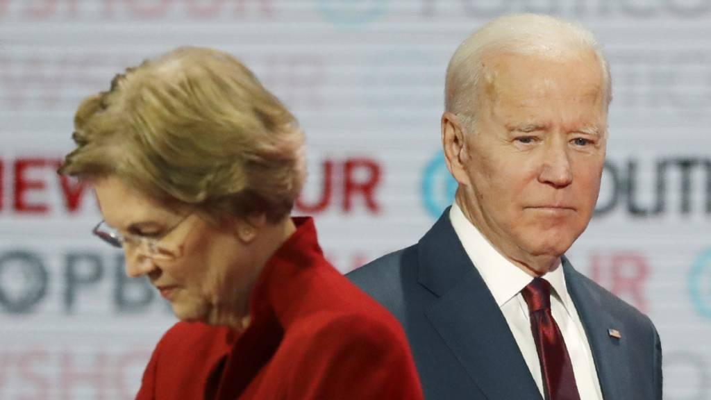 TV-Debatte der demokratischen US-Präsidentschaftsanwärter: Senatorin Elizabeth Warren und der frühere Vizepräsident Joe Biden.