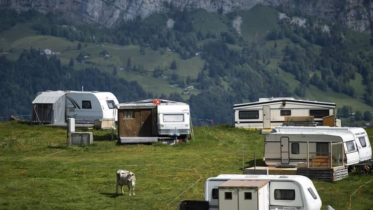 Die Campingplätze waren im zweiten Quartal weniger voll und weniger international als im Vor-Corona-Jahr 2019.