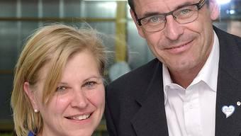 Präsident und Hotelier Dominik Wyss mit dem neuen Vereinsmitglied, der AMA-Chefin Susanne Galliker.