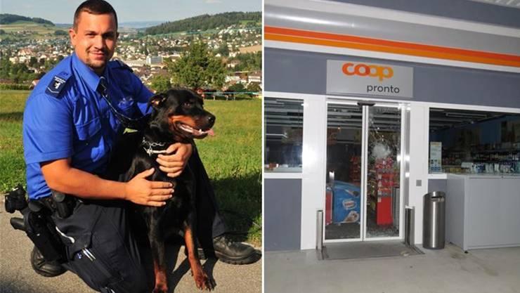 Patrick Suters Hündin Neyla stellte den Einbrecher, der versucht hatte, in den Coop Pronto Shop in Menziken einzudringen.