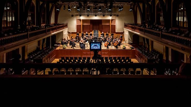 Das Solothurner Kammerorchester spielt im leeren Konzertsaal