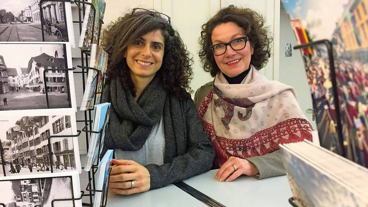 Danièle Turkier und Agnes Henz (rechts) vom Tourismusbüro aarau info in Aarau