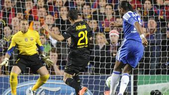 Hier erzielt Chelsea-Stürmer Didier Drogba das 1:0 gegen den FC Barcelona