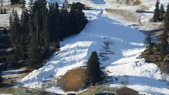 Der Zielhang in Adelboden an Neujahr