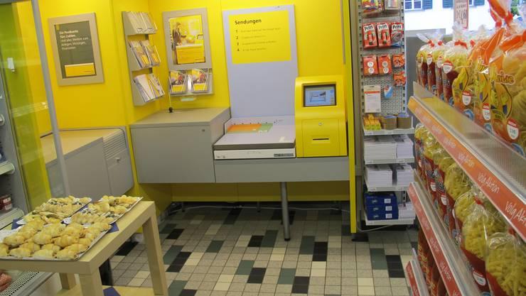 Mangels Umsatz musste die Postfiliale in Aesch schliessen. Jetzt beherbergt der Volg eine Postagentur.