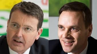 Jean-Pierre Gallati (l.) Warnung vor der Steuerreform kommt bei seiner Partei und Thomas Burgherr (r.) nicht gut an.
