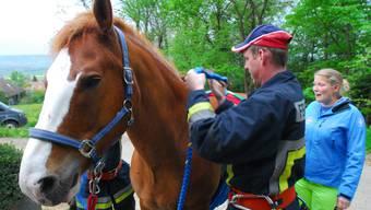 Tierrettungs-Übung der Bettlacher Feuerwehr
