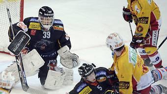 SCB-Goalie Bührer hatte im Berner Playoff-Derby nicht viel zu tun
