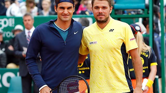 Roger Federer und Stan Wawrinka vor dem Final in Monte Carlo