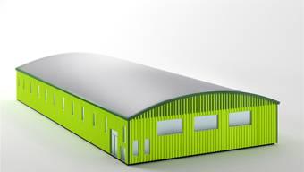 Visualisierung der geplanten Sporthalle. zvg