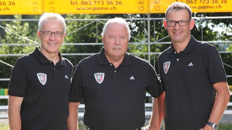 Der neue Geschäftsführender Ausschuss (von links): Thomas Kähr (CEO), Peter Treyer (Präsident), Martin Suter (Vizepräsident).
