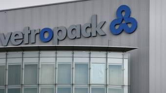 Das Logo der Firma Vetropack in Bülach