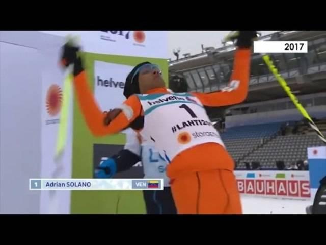 Adrian Solano im WM-Qualifikationsrennen  in Lathi 2017 über 10 Kilometer.