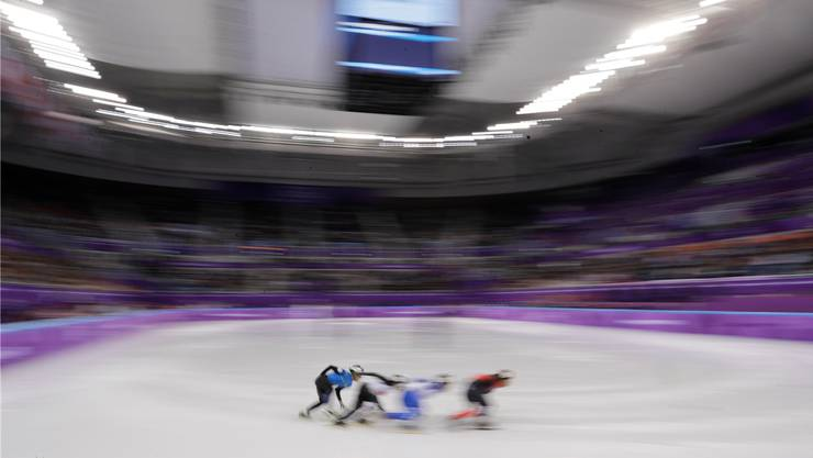 Rasante Rennen vor vollen Zuschauertribünen: Die Shorttrack-Wettbewerbe sind der grosse Publikumsmagnet in Südkorea.