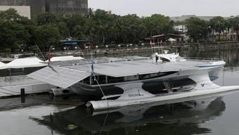 Das Solarboot PlanetSolar in Manila auf den Philippinen (Archiv)