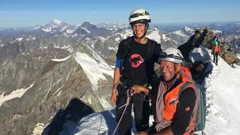 Ein Bild aus besseren Tagen: Silvan Bordogna (r.) und Sohn Andrin auf dem Matterhorn.