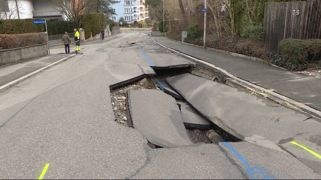 Wasserrohrbruch im Berner Sulgenau-Quartier