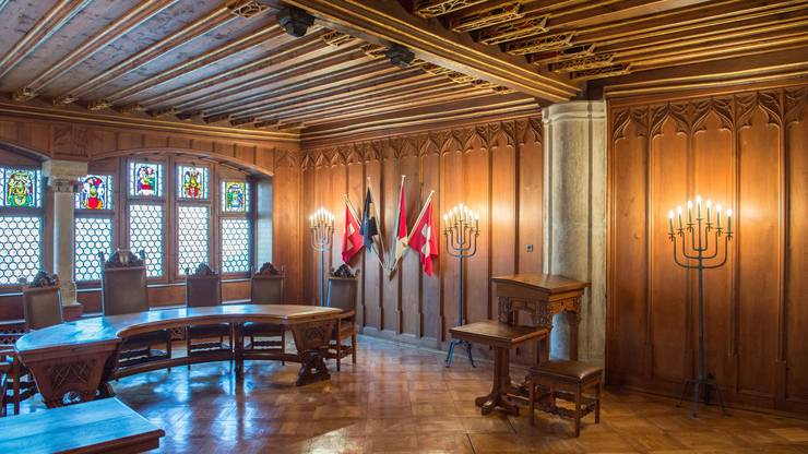 Die Eidgenossen tagtenseit der Eroberung des Aargaus 1415 in Baden.