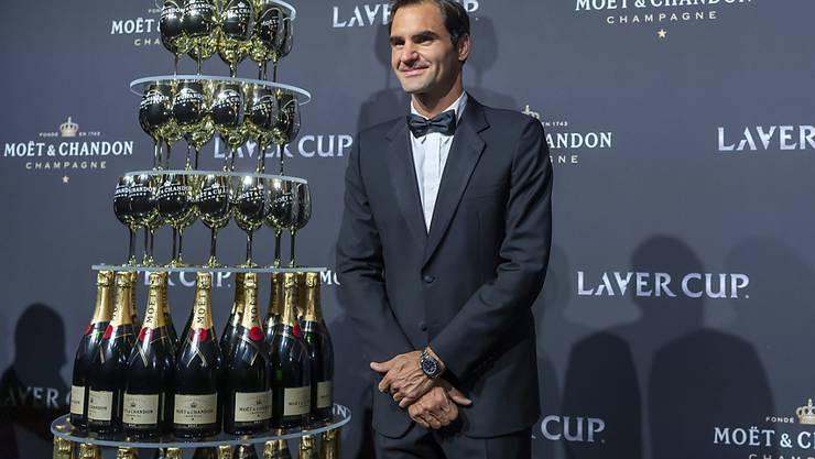 Roger Federer am Gala-Abend des von ihm mitinitiierten Laver Cup