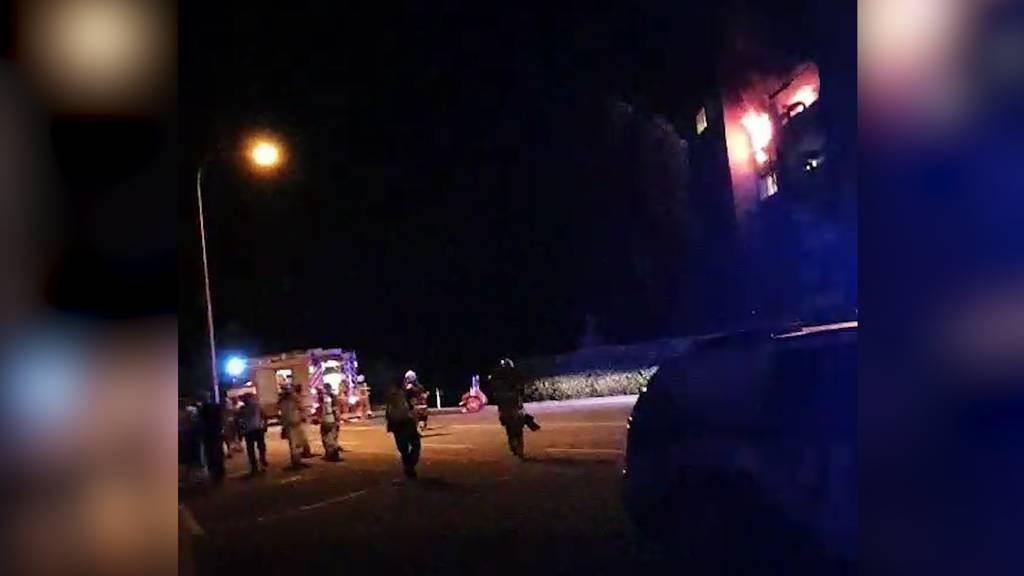 Feuer in Zofinger Mehrfamilienhaus: Acht Personen verletzt