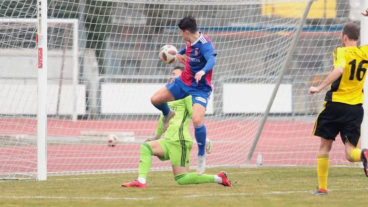 Tician Tushi konnte beim 3:1 Sieg der Basler U21 gegen den YF Juventus einen Treffer beisteuern.