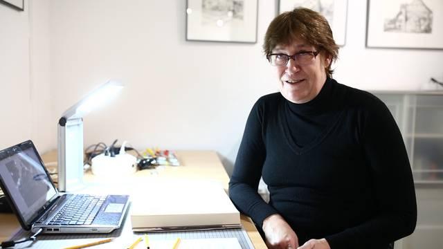Monica Hollenweger sagt, weshalb sie Kantonshauptstädte malt.