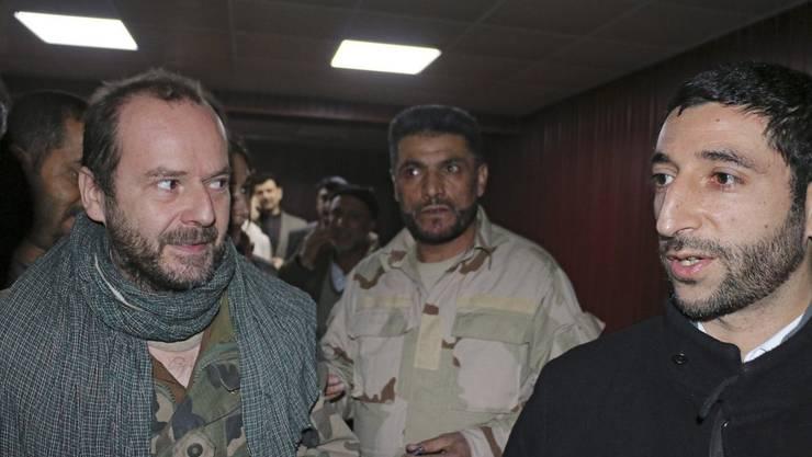 IKRK-Mitarbeiter Juan Carlos (links) kam im Januar 2017 nach einer Entführung frei.