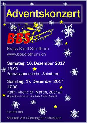 Flyer Adventskonzert 2017