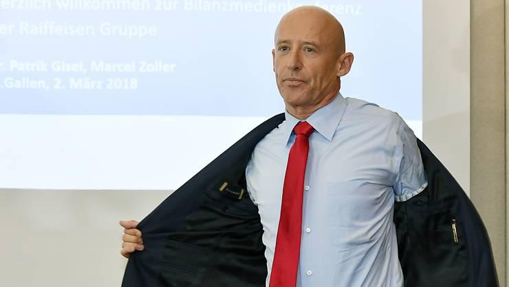 Raiffeisen Patrik Gisel tritt auf Ende Jahr als Chef der Raiffeisen-Gruppe zurück.