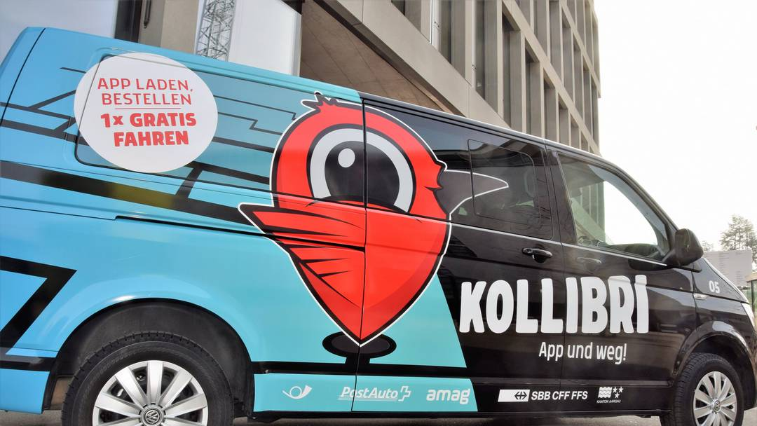 Brugg: Postauto testet Shuttle-Service «Kollibri»