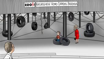 Die Karikatur zum Thema von Silvan Wegmann
