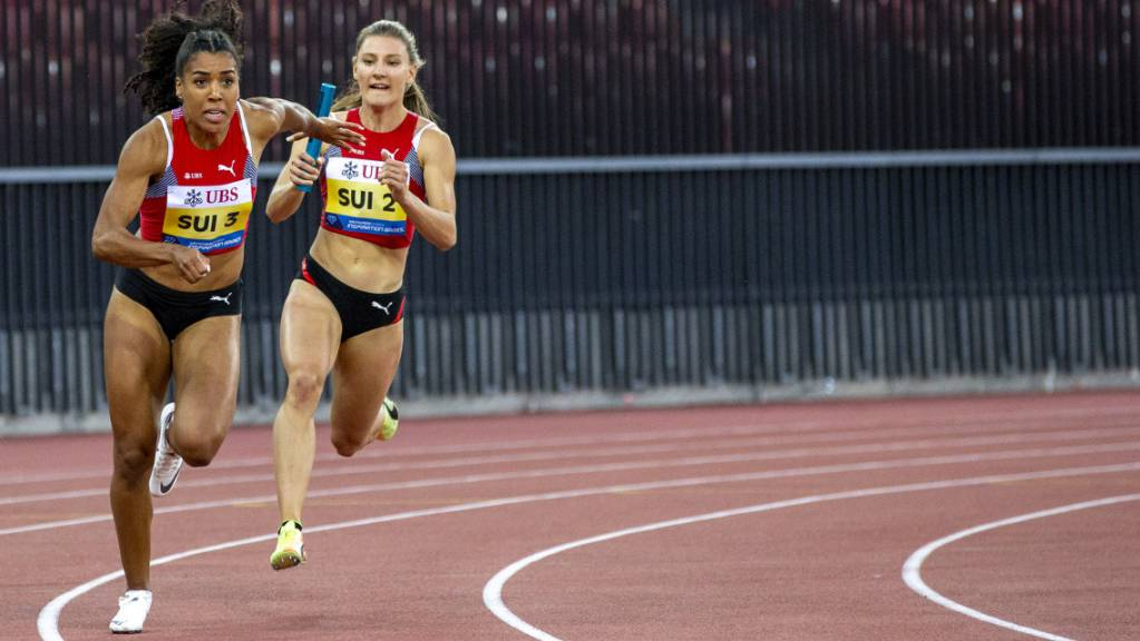 Mujinga Kambundji und Ajla Del Ponte: Hier miteinander in der Staffel, am Samstag gegeneinander über 100 m.