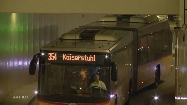 Eröffnung des unterirdischen Bustunnels in Baden