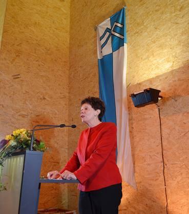 Regierungsrätin Esther Gassler bei ihrer Ansprache