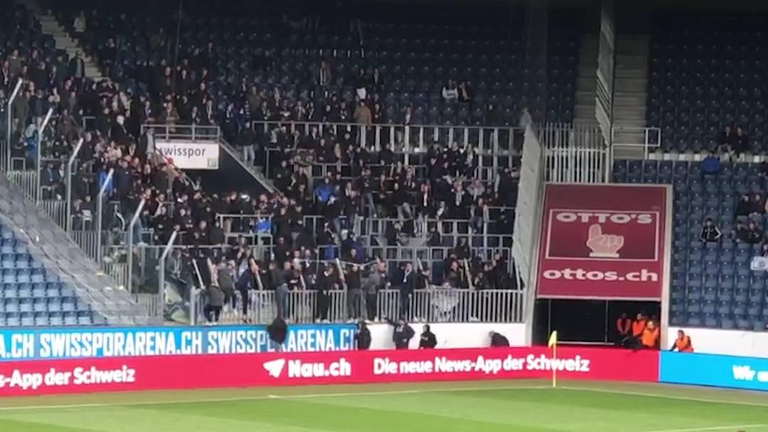 Nach 0:4 gegen Luzern: Spiel wegen GC-Fans abgebrochen (12.5.2019)