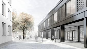 Das neue Schulhaus wird zweigeschossig.