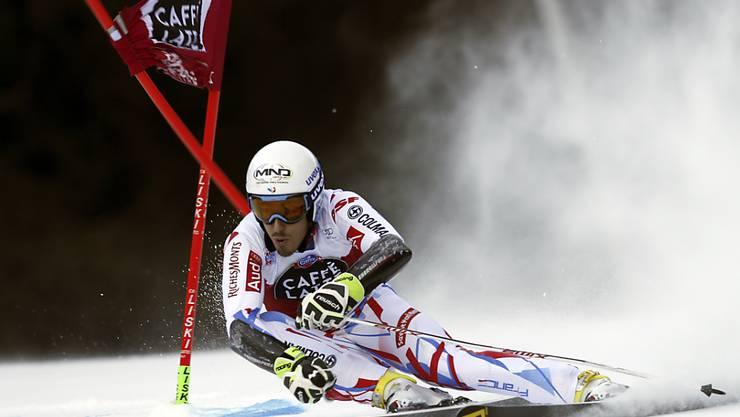 Victor Muffat-Jeandet führt knapp vor Marcel Hirscher