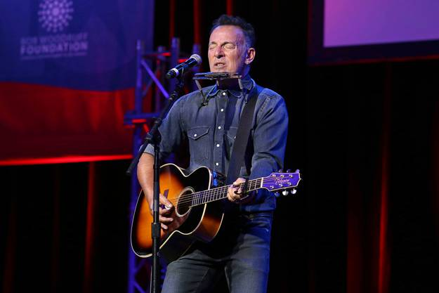 Bruce Springsteen performs at Stand Up For Heroes, presented by the New York Comedy Festival and the Bob Woodruff Foundation, at The Theater at Madison Square Garden on Tuesday, Nov. 1, 2016, in New York. (Photo by Greg Allen/Invision/AP)