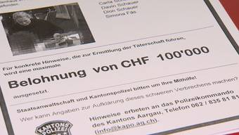 100 000 Franken: Damit werden die Ermittler von Kantonspolizei und Staatsanwaltschaft belohnt, die an der Aufklärung des Rupperswiler Vierfachmords mitgearbeitet haben.