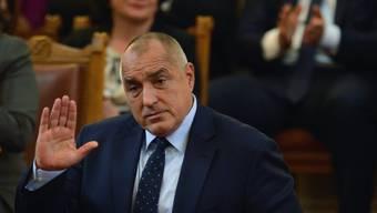 Der abtretende bulgarische Regierungschef Borissow im Parlament.