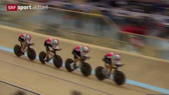 Das Schweizer Bahn-Team bei der Qualifikation.