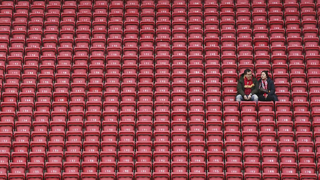 Auch die Premier League stellt den Betrieb vorläufig ein