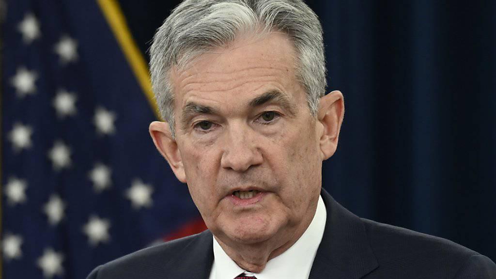 Seine Zinspolitik passt US-Präsident Donald Trump nicht: Notenbank-Chef Jerome Powell. (Archivbild)