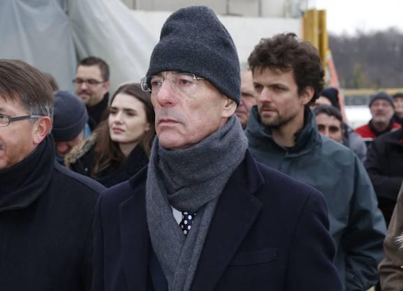 Unter den warm eingepackten Gästen war auch Jacques Herzog